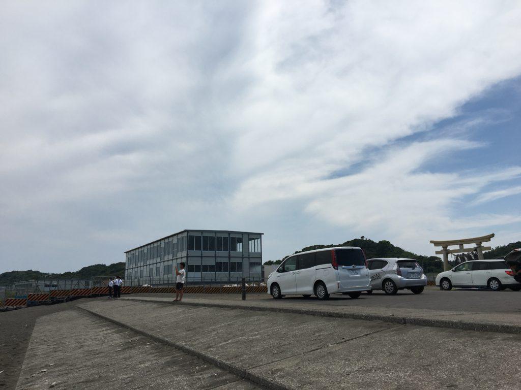 東京オリンピックのサーフィン会場(一宮町)釣ヶ崎海岸写真