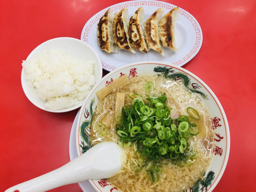 魁力屋コク旨ラーメンと餃子ライスセット